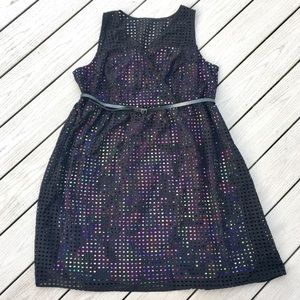 Lane Bryant Perforated Dress with Floral Lining